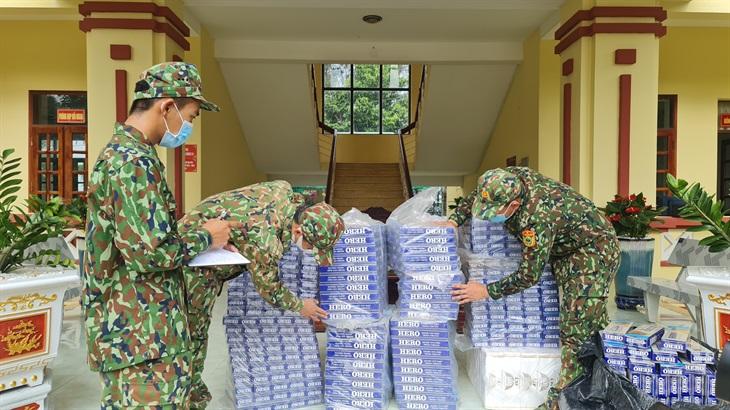 BĐBP An Giang thu giữ gần 5.000 gói thuốc lá nhập lậu