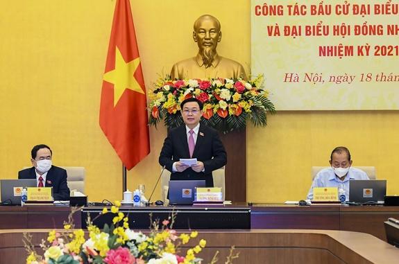 Hội đồng Bầu cử quốc gia tổ chức hội nghị toàn quốc sơ kết công tác bầu cử