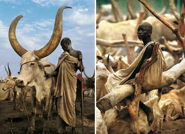 Bộ tộc Dinka bên bờ sông Nile