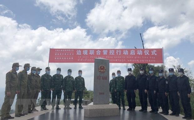Lực lượng bảo vệ biên giới Việt-Trung-Lào gặp gỡ tại Ngã ba biên giới