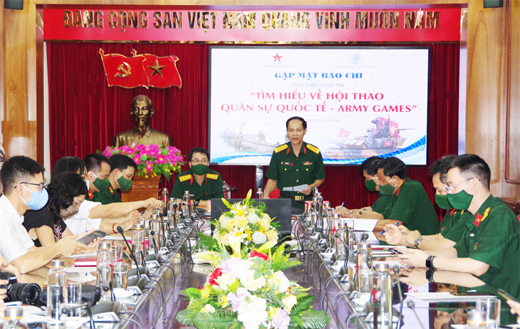Họp báo giới thiệu Cuộc thi Tìm hiểu về Hội thao Quân sự Quốc tế - Army Games