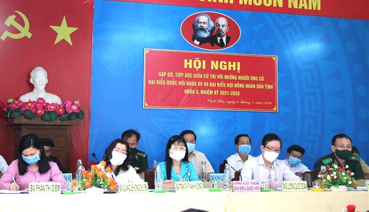 Tiếp xúc giữa cử tri với người ứng cử đại biểu Quốc hội, đại biểu HĐND tỉnh An Giang