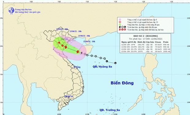 Bão số 2 vào vịnh Bắc Bộ, gió giật cấp 9-10, mưa to từ Thanh Hóa đến Thừa Thiên Huế