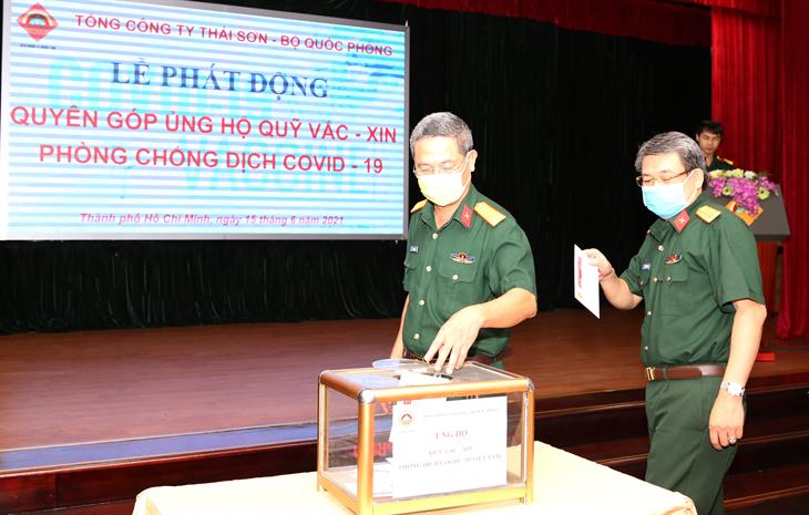 Tổng công ty Thái Sơn ủng hộ 500 triệu đồng cho Quỹ vaccine phòng Covid-19