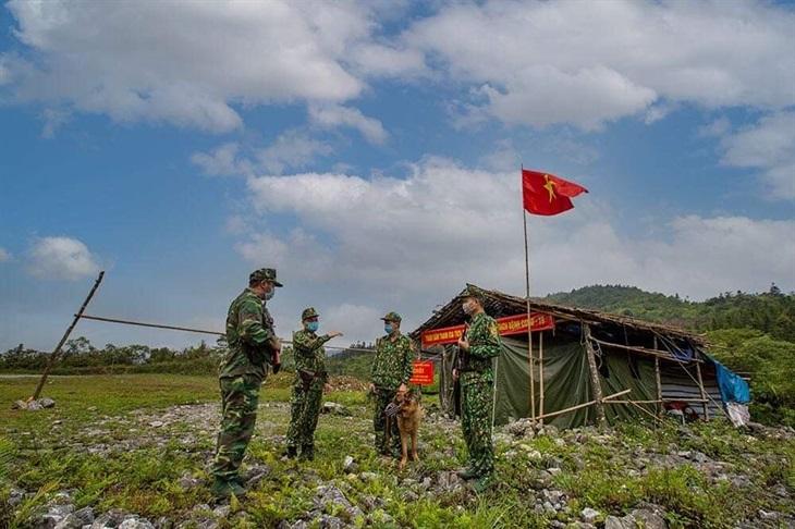 Trường Trung cấp 24 Biên phòng kết thúc đợt thực tập và tham gia phòng, chống dịch Covid-19 trên biên giới