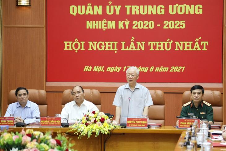 Hội nghị lần thứ nhất Quân ủy Trung ương nhiệm kỳ 2020-2025