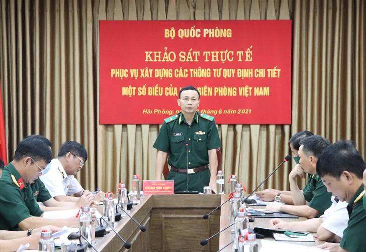 Khảo sát xây dựng các Thông tư quy định chi tiết một số điều của Luật Biên phòng Việt Nam