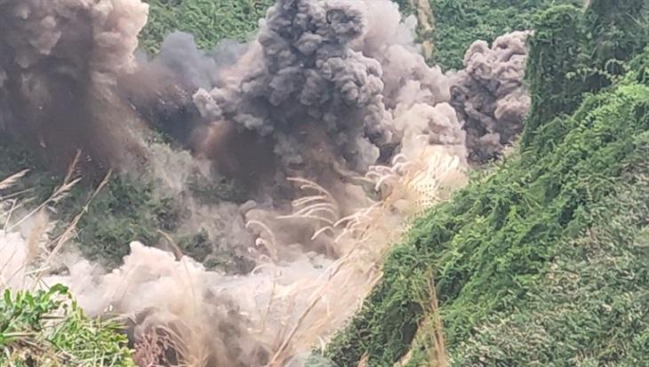 Đánh sập 75 hầm khai thác vàng trái phép trong Vườn Quốc gia Sông Thanh