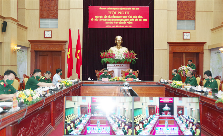 Hội nghị khảo sát sửa đổi, bổ sung quy định về tổ chức đảng, tổ chức cơ quan chính trị trong QĐND Việt Nam tại Đảng ủy BĐBP