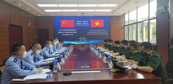 Hội đàm công tác nghiệp vụ giữa BĐBP tỉnh Lai Châu và Chi đội Quản lý biên giới Hồng Hà