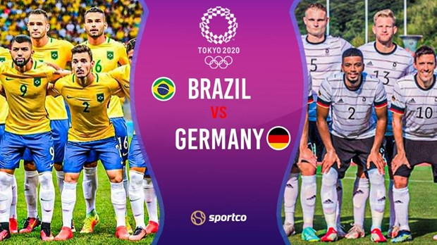Lịch thi đấu bóng đá nam Olympic Tokyo 2020: Tâm điểm Brazil-Đức