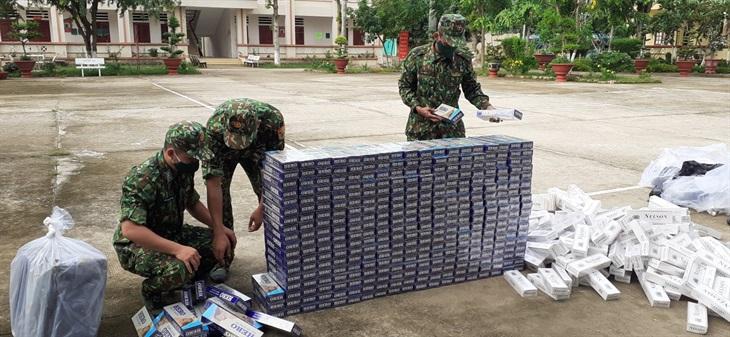 BĐBP An Giang: Liên tiếp bắt giữ 3 vụ buôn lậu, thu giữ gần 9.000 gói thuốc lá các loại