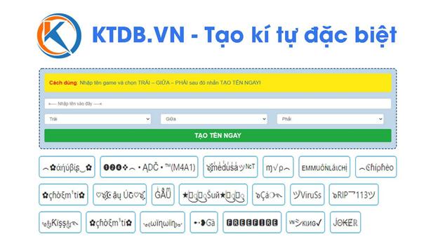 Ứng dụng KTDB.VN - tạo kí tự đặc biệt gây sốt của chàng trai trẻ Tiến Ban