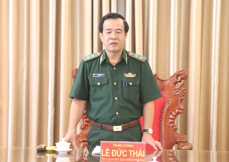 Lãnh đạo lực lượng bảo vệ biên giới của Lào và Campuchia gửi thư chúc mừng Trung tướng Lê Đức Thái