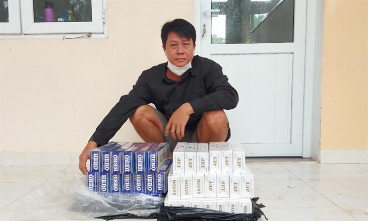 BĐBP An Giang bắt giữ đối tượng vượt biên vận chuyển thuốc lá lậu