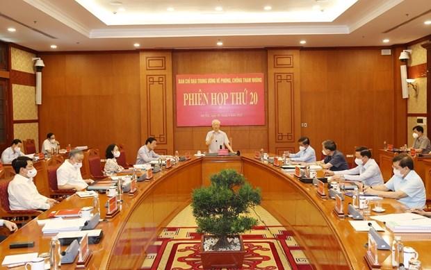 Phiên họp thứ 20 Ban Chỉ đạo Trung ương về phòng, chống tham nhũng
