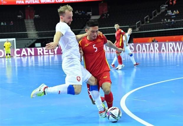 Báo Séc ca ngợi sự kiên cường của đội tuyển futsal Việt Nam