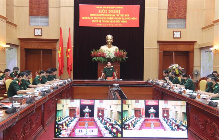 Thanh tra Bộ Quốc phòng: Công bố Quyết định thanh tra tại Bộ Tư lệnh BĐBP