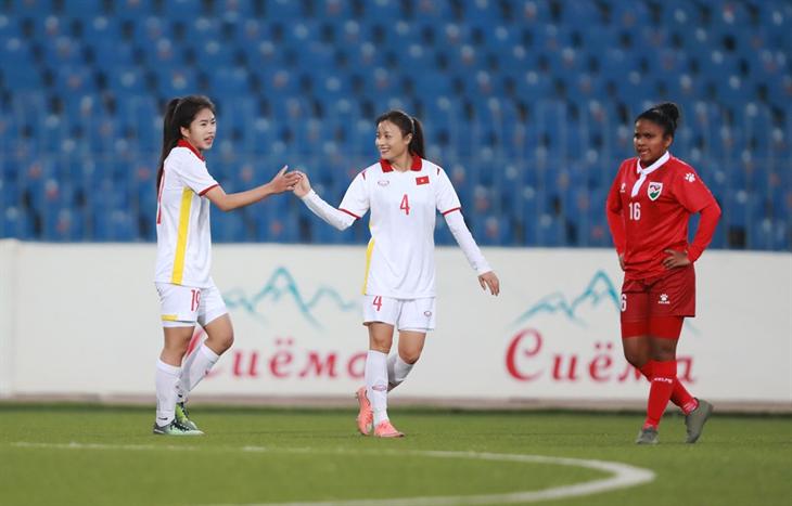 Đội tuyển nữ Việt Nam thắng 16-0 trước Maldives ở vòng loại Asian Cup