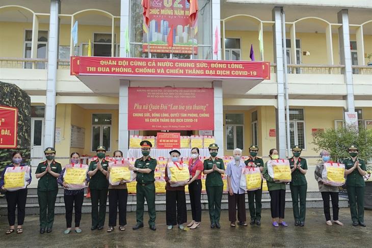 Bộ Tư lệnh BĐBP tích cực tham gia Chương trình Phụ nữ Quân đội lan tỏa yêu thương