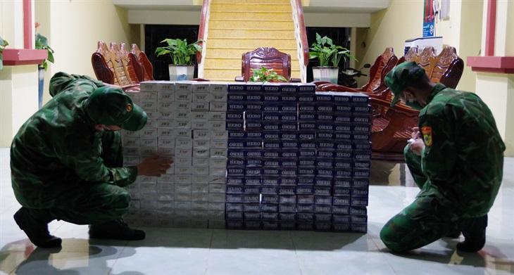 BĐBP An Giang: Bắt 4 vụ vận chuyển thuốc lá, thu giữ hơn 4.000 gói thuốc lá ngoại các loại