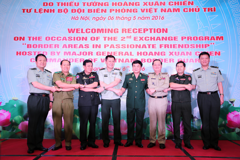 Bộ Tư lệnh BĐBP chiêu đãi trọng thể các đoàn khách quốc tế tham dự chương trình giao lưu