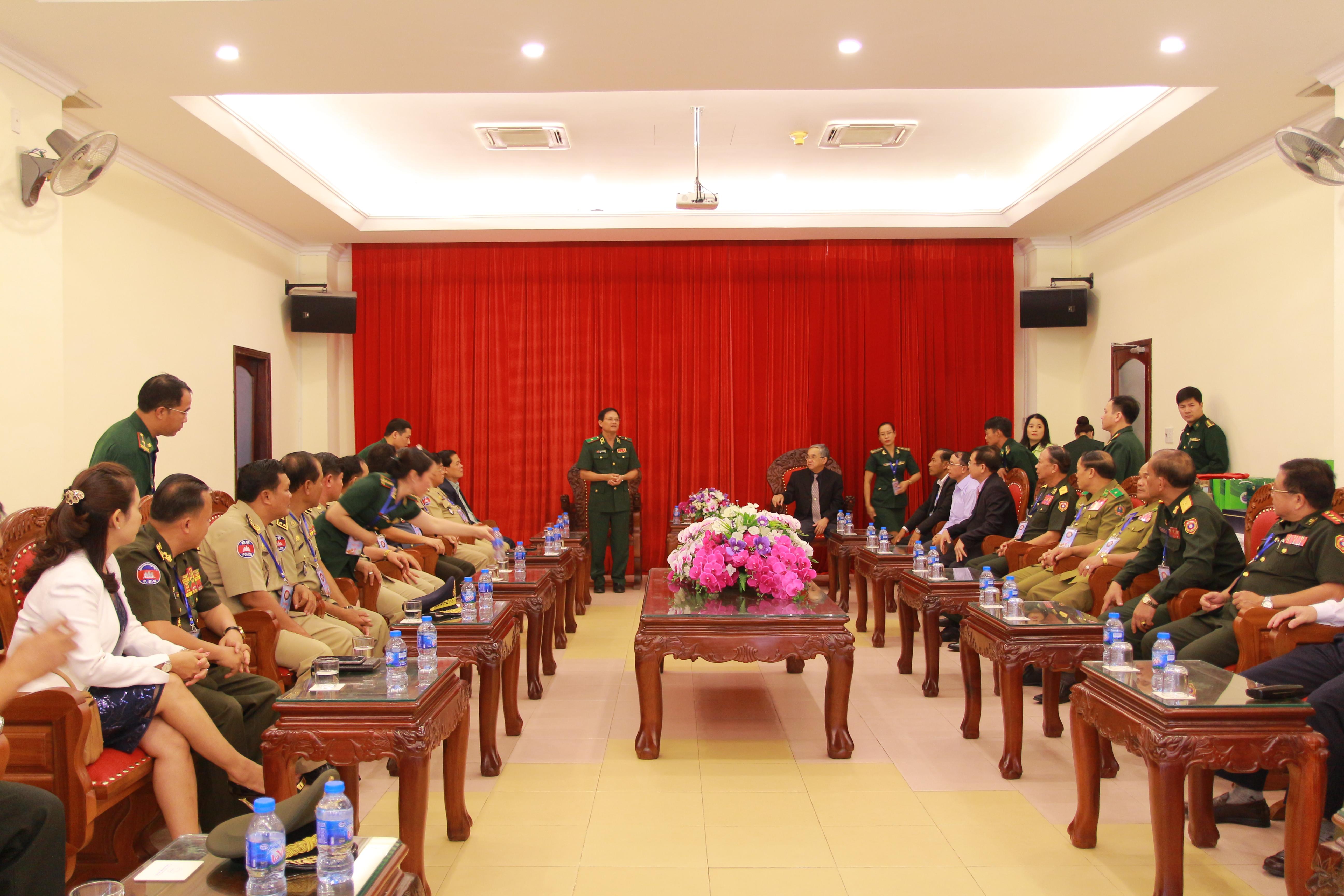 Tiếp đón đoàn đại biểu Lào và Campuchia tham dự chương trình Giao lưu hữu nghị biên giới Việt Nam-Lào-Campuchiaquot
