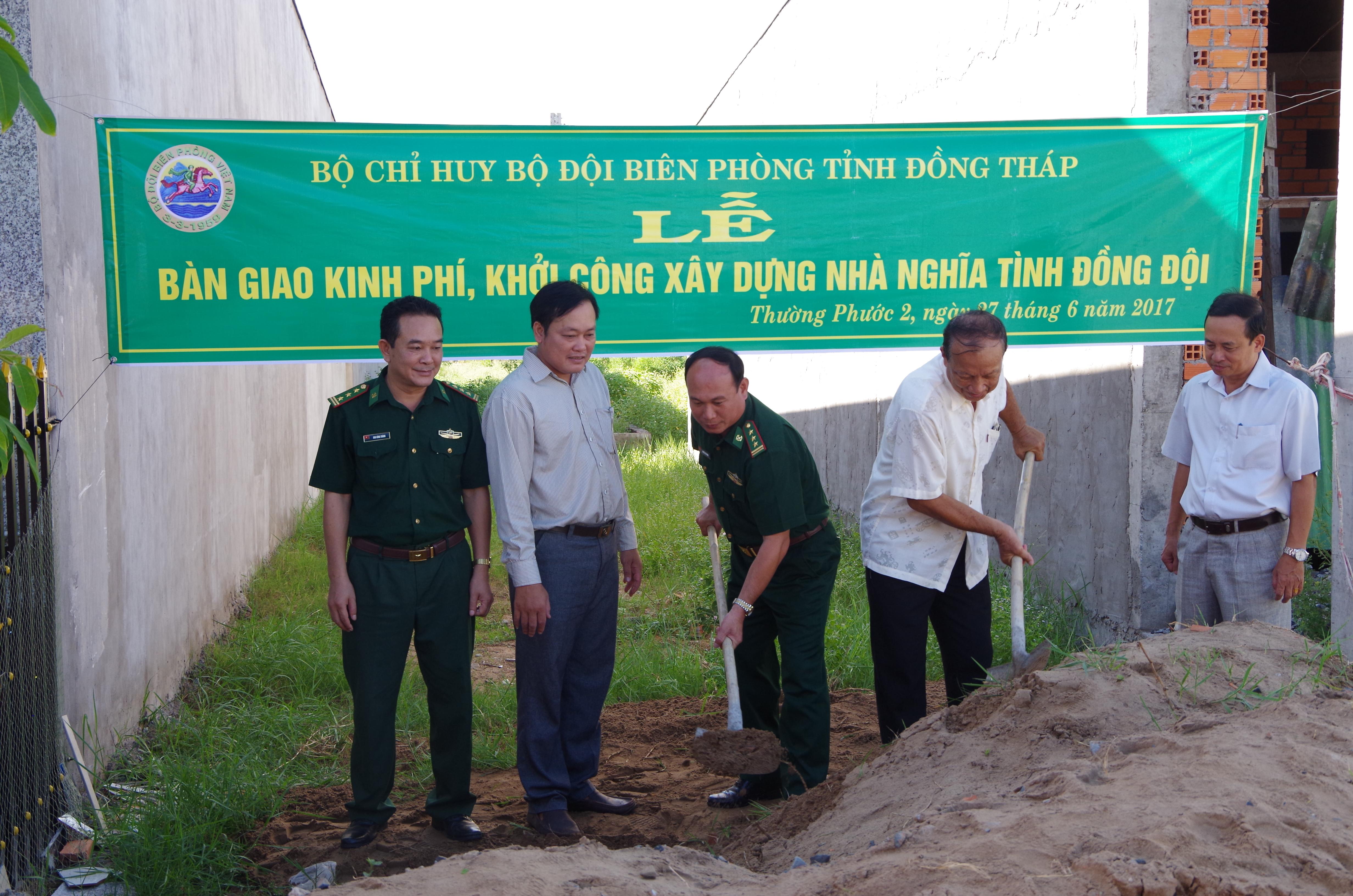 BĐBP Đồng Tháp: Khởi công xây dựng nhà quotNghĩa tình đồng độiquot