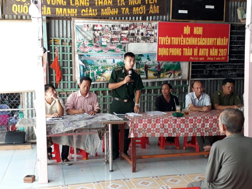 Tuyên truyền pháp luật cho nhân dân khu vực biên giới Phú Lộc