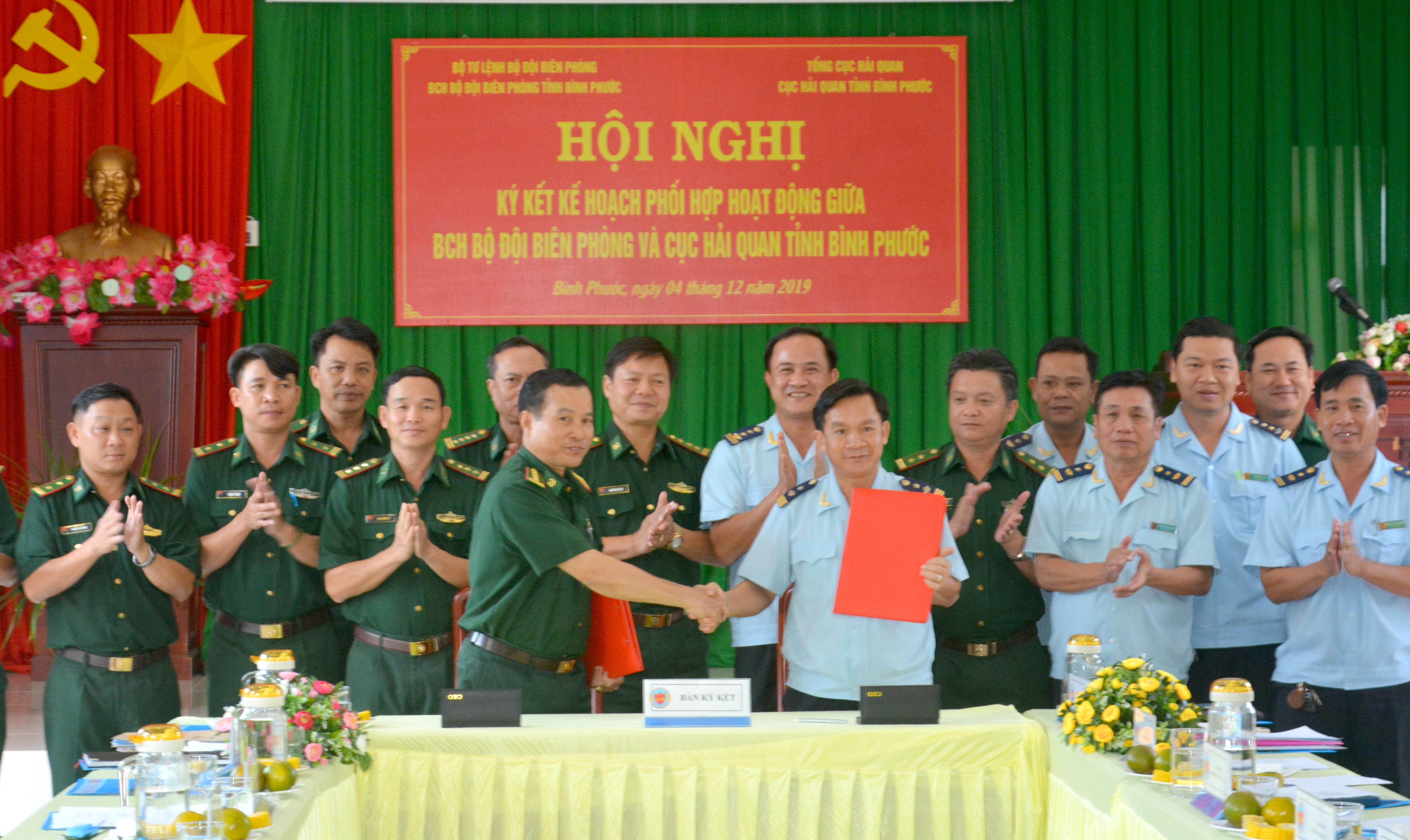 BĐBP và Hải quan Bình Phước ký kết kế hoạch phối hợp