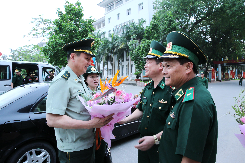 Lực lượng bảo vệ biên giới 3 nước thăm và làm việc tại Học viện Biên phòng