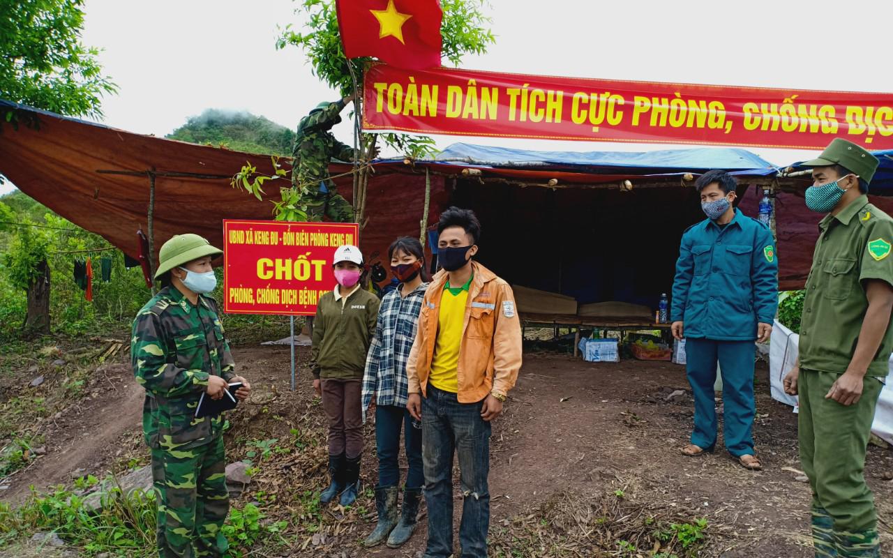 BĐBP Nghệ An tiếp tục duy trì 56 chốt phòng dịch bám trụ biên giới