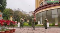 Nữ quân nhân Biên phòng với vũ điệu rửa tay Ghen Cô Vy