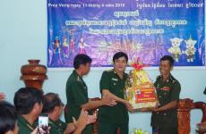 BĐBP Đồng Tháp thăm, chúc tết lực lượng vũ trang tỉnh Pray Veng, Vương quốc Campuchia